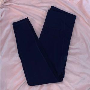 Navy blue active wear leggings